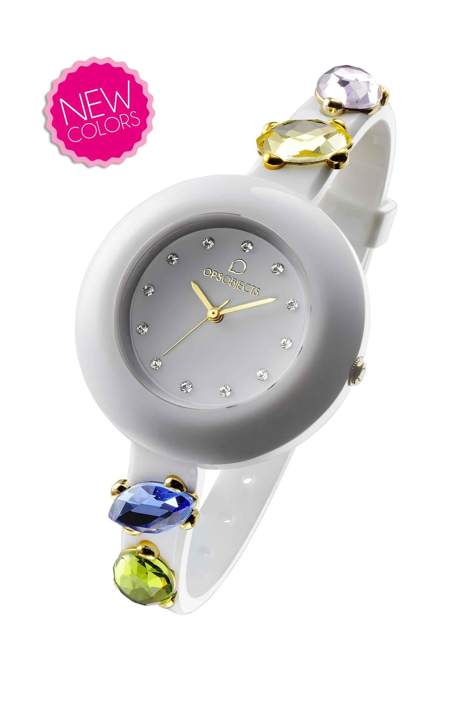Orologio ops stone-bianco-Clessidra Jewels