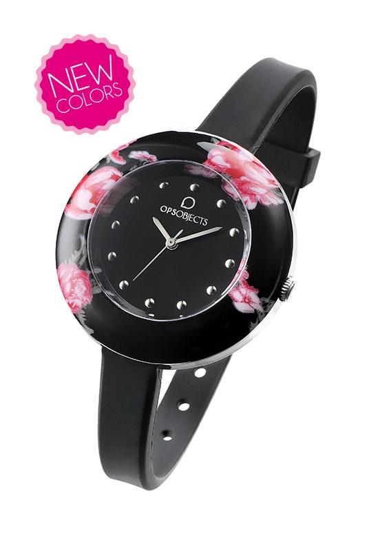 Orologio ops flower-nero-Clessidra Jewels