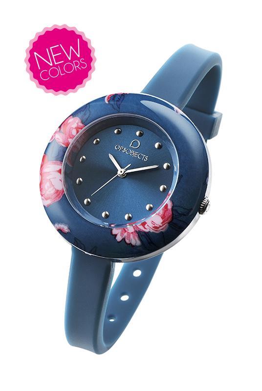 Orologio ops-flower-blu-Clessidra Jewels