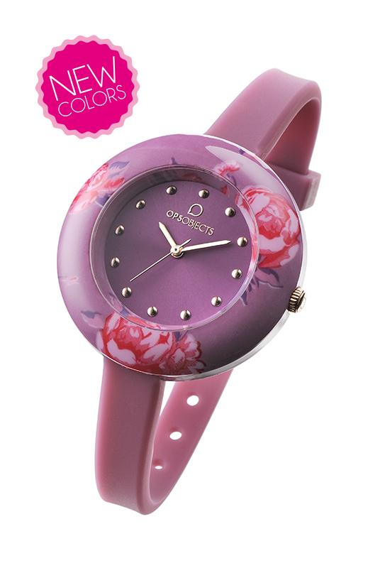 Orologio ops-flower-fucsia-Clessidra Jewels